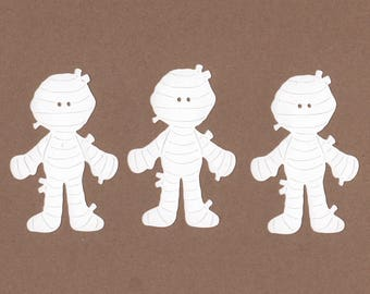12 - 3.5 inch Mummy Die Cuts for Paper Crafts  Card Making Party Set 7037