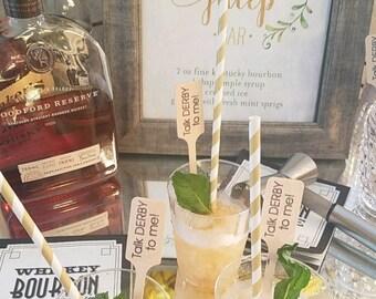 Kentucky Derby Drink Stirrer / Party / Talk derby to me / Western Party / set of 500/ Cocktail Stir Stick