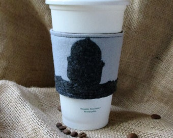 Iron Giant Inspired Robot Single Sided Felt Coffee Cup Cozy/Sleeve/Cuff/Jacket
