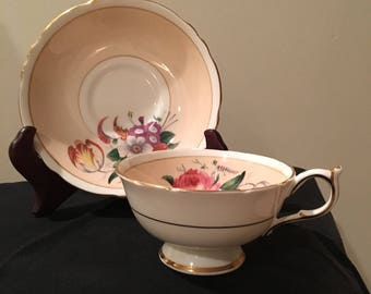 Paragon Teacup and Saucer Floral Bouquet Fine China England 1950,s