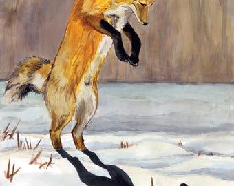 Fox & Shadow Print