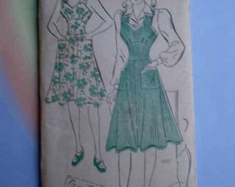 Vintage 40s Sweetheart Jumper with Puff Sleeve Blouse Unused Pattern 30 Bust