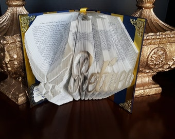 US Air Force Retired folded book -  USAF Medic, Air Force gift,Nurse gift, USAF, Military Gift, Airman Gift, Patriotic, Retired Air Force