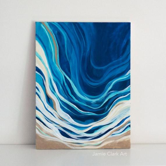 "Original 18x24 Painting ""Tide"" FREE SHIPPING"