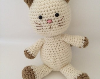Crochet kitty cat amigurumi cat