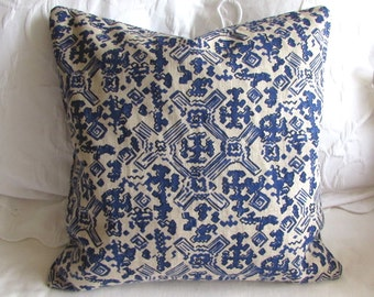 Nomad Indigo Blue fabric decorative Pillow Cover 18x18 20x20 22x22 24x24 26x26