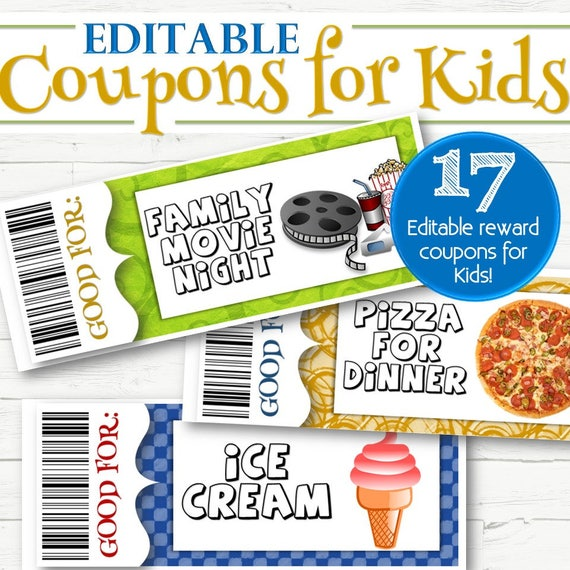 Editable Coupons For Special Occassions