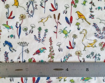"""REMNANT SALE Liberty London Theo A 19"""" x 51"""" Tana Lawn Fabric"""
