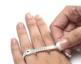 PEACOCK Ring Gauge (1-17 USA Sizes) / Multisizer Economical Ring Sizer Gauge for Men, Women & Kids / Check Ring Size @ Home