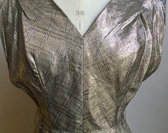 Va Va Voom  60s Gold Brocade Wiggle Dress