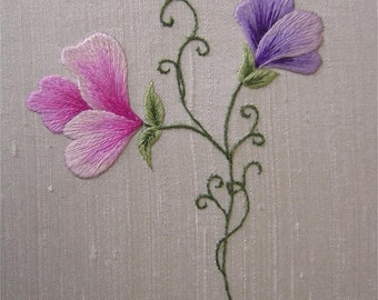 Sweet Peas Embroidery Kit PDF download instructions