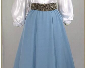 Sky Blue Victorian Skirt