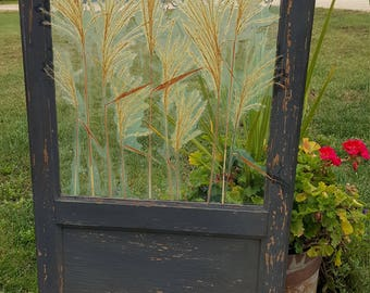 Re-purposed Sash with decorative grasses