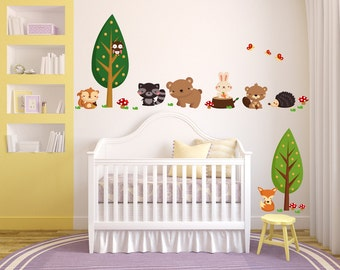 Woodland Animals Decal, B105