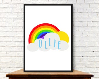 Personalised Rainbow Digital Print