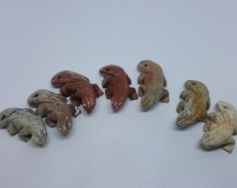 Carved Stone Lizards