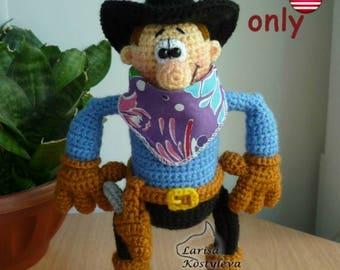 Crochet pattern - Cowboy amigurumi doll (English)