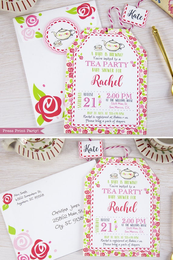 Tea Party Baby Shower Invitation Printables A Baby is