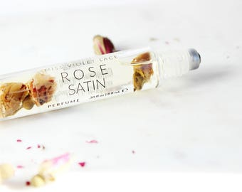 Rose perfume, floral perfume, spring summer perfume, 100% natural and vegan