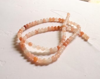 4mm round red aventurine peach aventurine natural gemstone
