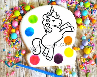 12 Unicorn paint your own cookies