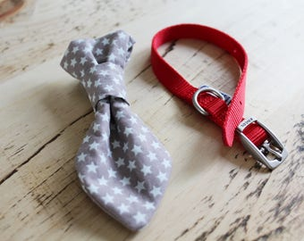 Brown Star Handmade Smart Dog Tie