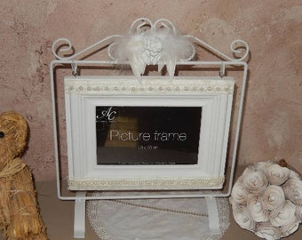on wearing Shabby chic picture frame