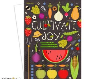 Garden, Gardening, Inspirational Greeting Card, Inspirational Art, Women, Art for Women, Grow, gardening themed cards