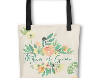 Tote bag - Italian Garden - watercolor flowers - Mother of Groom