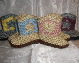 Baby Cowboy Boots Gender Reveal Pregnancy Reveal Announcement Cowgirl Booties Baby Boots Infant Booties