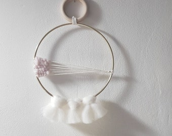 Wall hanging with tassels