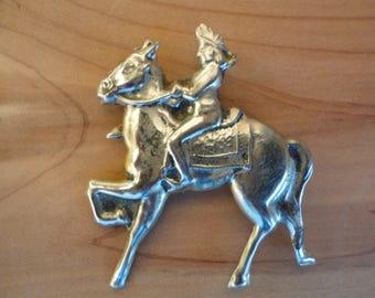 Soldier On Horseback Brooch/Pin