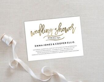Wedding Shower Invitation Template | Editable Invitation Printable | Rehearsal Dinner Invite Gold | No. PW 5366