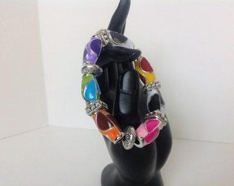 Stretch bracelet, fashion bracelet, trending bracelet, multi color stretch bracelet