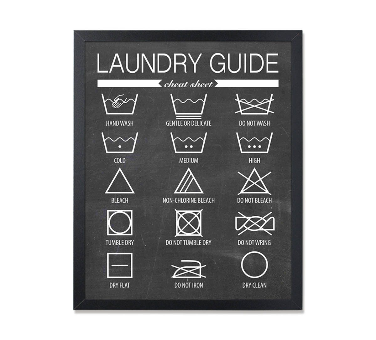 Laundry room printable poster washing labels laundry decor zoom buycottarizona Gallery