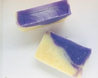 Flower Power Lavender Gardenia All Natural Soap, Handmade Soap, Cold Process Soap, Vegan, Bar Soap)