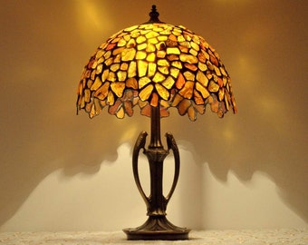 Baltic Amber Lamp. Tiffany Lamp. Stained Glass Lamp. Victorian Lamps. Lamp  With