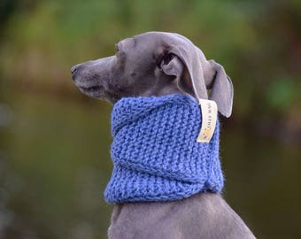 Dog Snood - Double Loop- Denim Blue