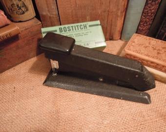 Vintage Bostitch Stapler / Vintage Office / Work Space Stapler / Vintage Black Stapler