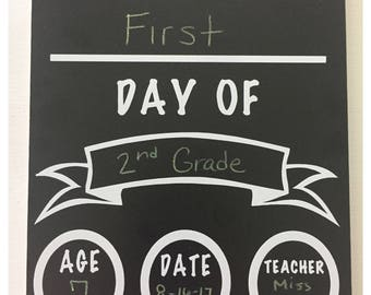 Personalized One-Sided Back to School Chalkboard