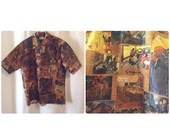 Surf Line by Liberty House Gaugin Print Shirt