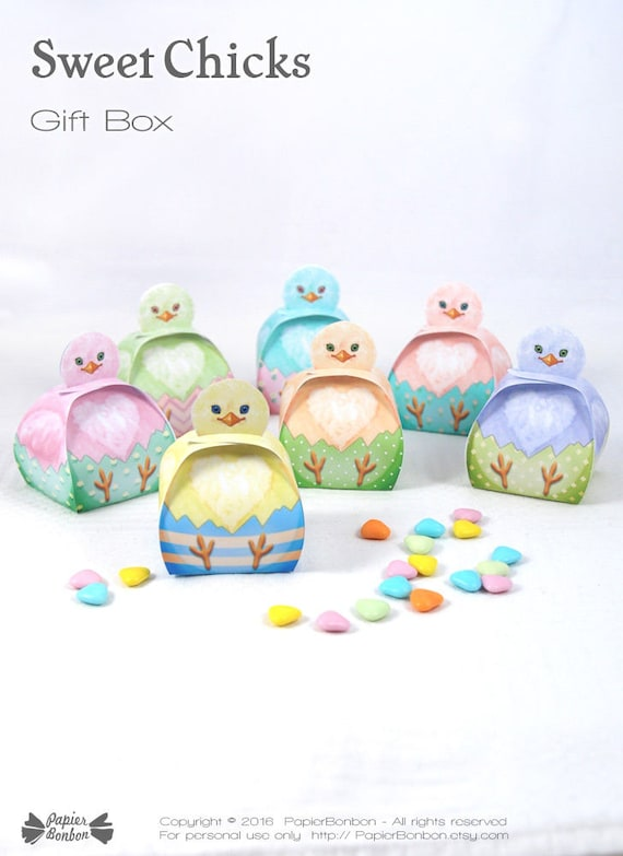 Easter Chicks gift boxes
