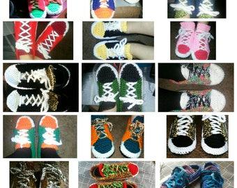 Handmade sneaker slippers made to order