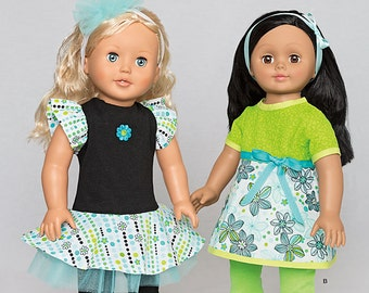 """OUT of PRINT Simplicity Pattern 1496 It's So Easy 18"""" Doll Clothes"""
