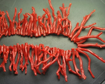 7 Inches Strands,Natural ITALIAN CORAL Branch,12-25MM Long