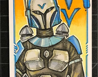 Star Wars Masterwork Original Artist Sketch Card: Bo-Katan