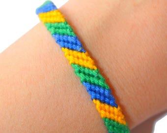 """Friendship Bracelet model """"M2"""", unisex, Brazil"""