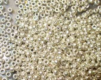 Micro Seed Beads - Antique Size 16/0 Silvery Color Glass