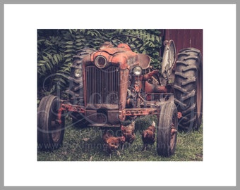 "8x10 Matted Print of ""Tractor Hens"""