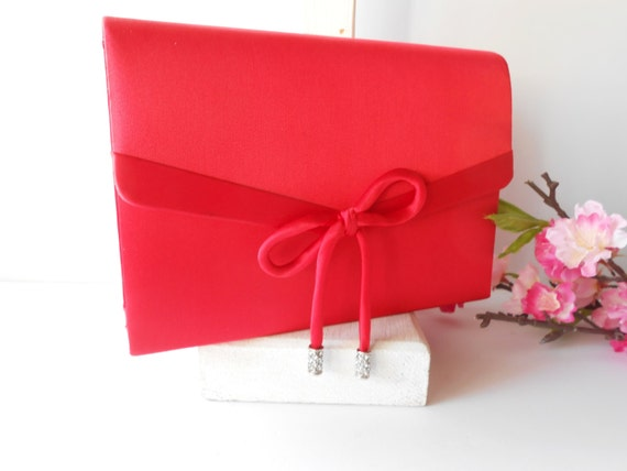 Red Taffeta Clutches